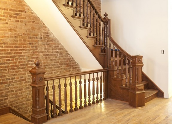 The stairs after renovation