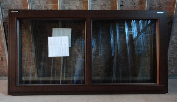 Chocolate colored wood window from Gaulhofer