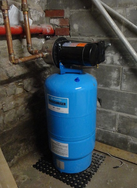 Booster pump to boost household water pressure