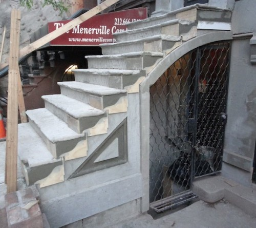 Brownstone stoop repair